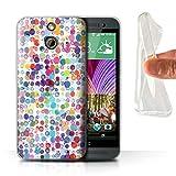 Stuff4 Gel TPU Hülle / Case für HTC One/1 E8 / Bunte