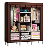 Krishyam FOLDING WARDROBE ALMIRAH NON WOVEN FABRIC A-2 LIGHT AND TRENDY Brown Color
