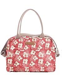 Brakeburn - Bolso estilo bolera de Lona para mujer rosa coral
