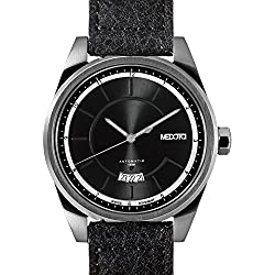 MEDOTA Grancey Men's Automatic Water Resistant Analog Quartz Watch - No. 2702 (Silver/Black)