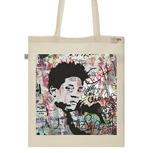 Tote Bag Imprimé Ecru - Toile en coton bio - Jean-Michel Basquiat