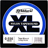 D'Addario TWB035 Nylon Tape Wound Bass Guitar Single String.035