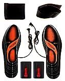 Beheizbare Einlegesohlen Thermosohlen Akkubetrieb(4 Warmstufen), Größe: 36-47(zuschneidbar),waschbar