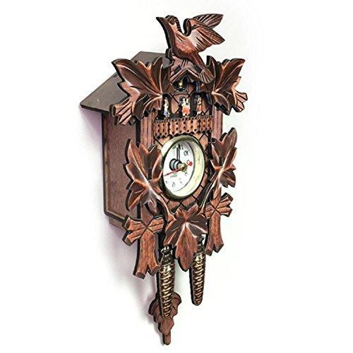 fllyingu Vintage Wanduhr Handcrafted Holz Original Schwarzwald Kuckucksuhr , Europäischen Stil Holz Wohnzimmer Vintage Wanduhr für Heimtextilien