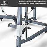 MARCY Heim-Gym Multipresse mit Hantelbank Smith-Maschine, Schwarz, One Size - 7
