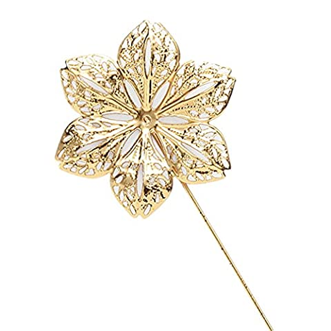 MGS Men's Corsage Lapel Stick Pin Brooch Flower Copper Golden Suit Shirt Banquet Party Wedding Gift