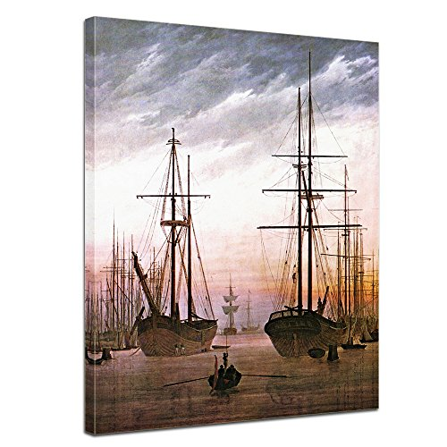 Bilderdepot24 Kunstdruck - Alte Meister - Caspar David Friedrich - Ansicht Eines Hafens - 60x80cm...