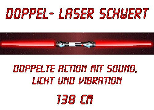 rt Lichtschwert Sound Licht Vibration 138 cm rot (Darth Maul Kinder Kostüm)