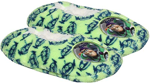 Disney Toy Story Boys Buzz Lightyear and Woody Coral Fleece Slipper Set