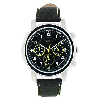 Timex Milan Chronograph – Reloj de caballero de cuarzo, correa de textil color negro (con luz, cronómetro)