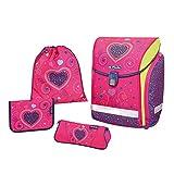 Herlitz Juego de bolsos escolares, Pink Hearts (Multicolor) - 50013715