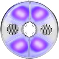 LED Paraguas Luz Bluetooth Altavoz Inalámbrico USB Banco de Energía Recargable en el interior y Altavoz Al Aire Libre Cambio de Color RGB Paraguas Faro Luces de camping lámpara