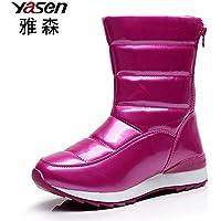 yjnb Tubo, in inverno neve stivali scarpe stivali donna e wool-waterproof piatto antiscivolo scarpe, Y9pink, 38EU/5.5UK/7.5US