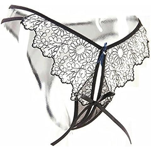 RangYR*elegante y sexy ropa interior femenina tentación de cadena en el documento pantalones grabado de fluoroscopia Sra. encajes ropa interior transparente , código son