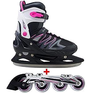 Cox Swain 2 in 1 Kinder Skates-/Schlittschuh -Joy- LED Leuchtrollen, ABEC 7 Carbon Lager