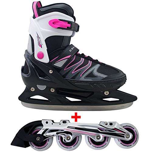 Inline Cox Swain Children Inline /& Ice Skates Sneak Ice Skate 2 in 1 with ABEC 5