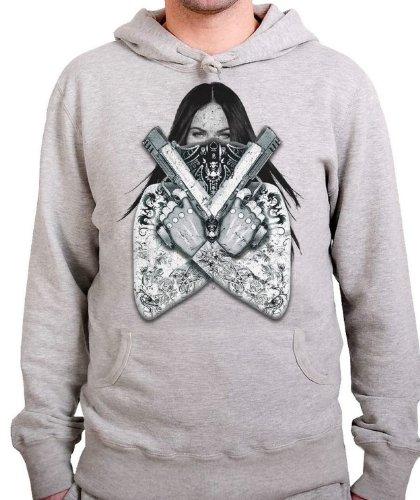 stylotex-hoodie-gangster-megan-with-guns-grossexxlfarbeheather