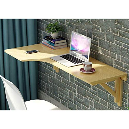 Förmigen Schreibtisch (YZZG Gaming Desk, Massivholz Ecke Computer Schreibtisch Wand Tisch Klapptisch L-förmigen Wandtisch Computer Lerntisch Optionale Größe,140 * 60,Klarlack)