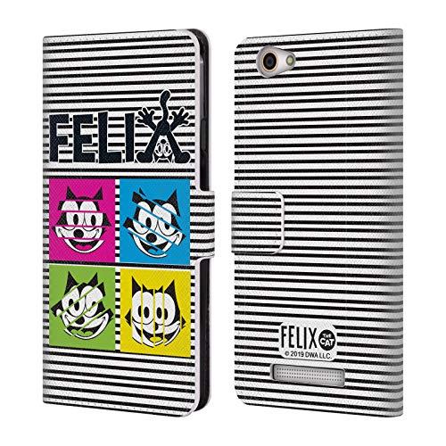 Head Case Designs Offizielle Felix The Cat Pop Kunst Ikonische Kunst Leder Brieftaschen Huelle kompatibel mit Wileyfox Spark X