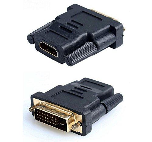 Adaptador Conversor HDMI Hembra a DVI 24+1 Macho Conector Clavija Dorado 2305