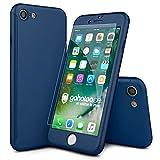 CASYLT® iPhone 7 Hülle 360 Grad Fullbody Case [inkl. 2X Panzerglas] Premium Komplettschutz Handyhülle Blau
