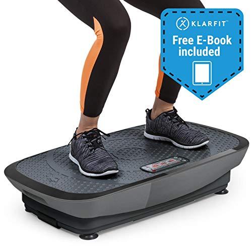Klarfit Vibe 3DX Vibrationsplatte • Trainingsgerät • Fitnessgerät • 2 x 250 W • 3 Modi • 3DX DualMotor • Trainingscomputer • einstellbar • max. 120 kg • inkl. Fernbedienung und Fitnessband • schwarz