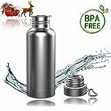 TopBine Bottiglia isolata in acciaio inox thermos 500ml-750ml-1000ml vuoto-bottiglia da bere isolato sport bottiglia d'acqua per il campeggio outdoor sport alpinismo tazza di viaggio (500ml)