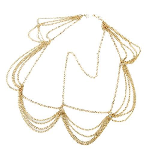 Frauen Goldwellen Fringe Tassel Stirn Kopf Haare Band Kopfstück