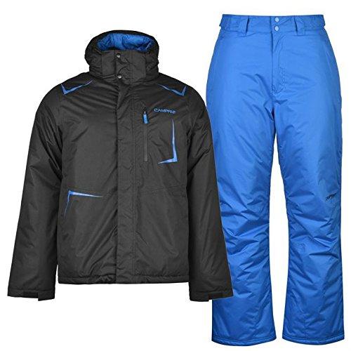Campri Herren Ski Set Skianzug Jacke Hose Schneeanzug Skijacke Skihose 2 Teile Schwarz Small (Ski Set Jacke)