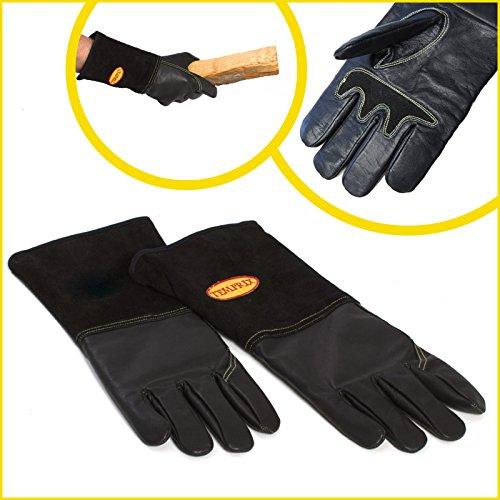 Kaminhandschuh, Hitze-Schutz-Handschuh aus echtem Leder Temprix NEUHEIT (XL)