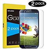[Pack of 2] SPARIN Galaxy S4 Screen Protector, Tempered Glass Screen Protector for Galaxy S4 with [Scratch Resist] [Bubble Free Install] [2.5D Curved Edge] [HD Clear]