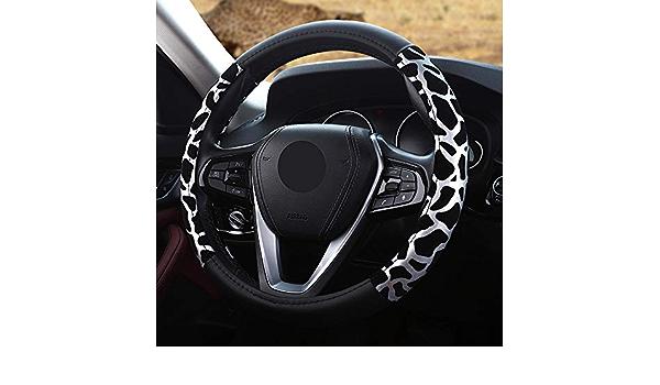 Cina Copertura del volante del leopardo della peluche di alta densit/à nessun anello interno Sezione elastica Copertura della treccia del volante dellautomobile di modo molle giallo