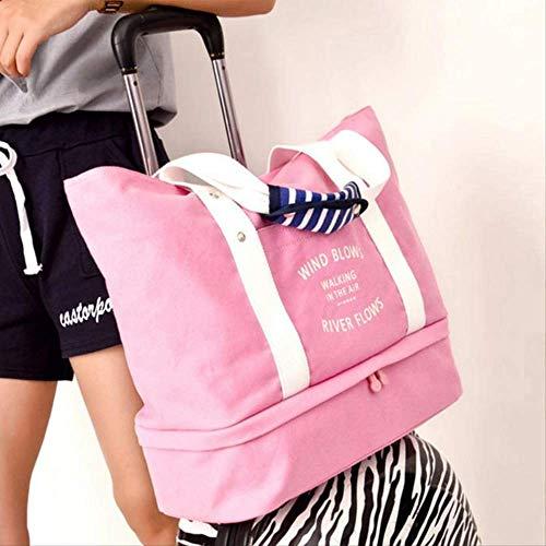 Travel Duffle Totes Bag Für Outdoor Short Reisen Big Bags Gepäck Für Frauen Männer Organizer Anzug Packsack Weekender Handtasche Rosa