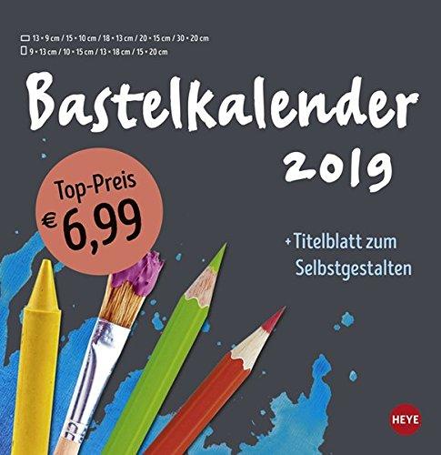 Bastelkalender anthrazit groß - Kalender 2019
