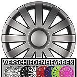 Eight Tec Handelsagentur (Farbe & Größe wählbar!) 15 Zoll Radkappen AGAT (Graphit matt) passend für Fast alle Fahrzeugtypen (universal)