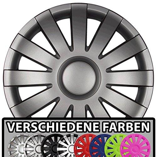 Eight Tec Handelsagentur (Farbe & Größe wählbar!) 13 Zoll Radkappen AGAT (Graphit matt) passend für Fast alle Fahrzeugtypen (universal) -