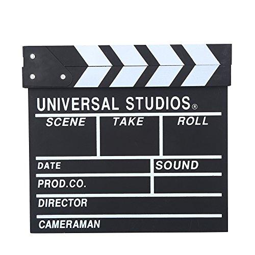 VBESTLIFE Wooden Director Scene Filmklappe Clapper Board Film Cut Prop