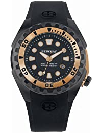 Beuchat chronographes nautyl–Reloj Negro/Oro rosa