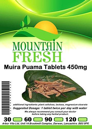 Muira Puama Tablets 60 x 450mg FREE UK Postage Test
