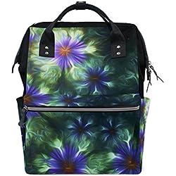 Mochila fractal floral azul