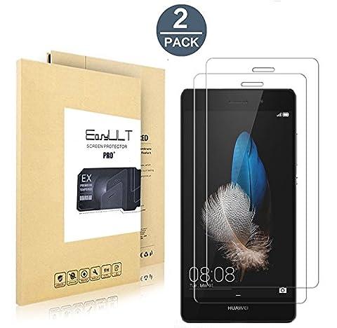 Verre Protection écran Huawei P8 Lite[2-Pièces], EasyULT Vitre Tempered Protecteur