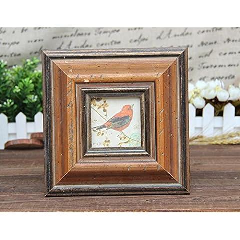 ZQQ Casa in legno massello classico partita HD vetro foto cornice photo frame , 8*8 - Hd Vetroresina