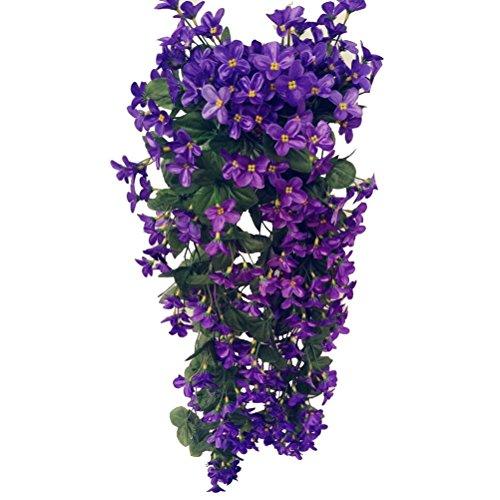 Vorcool fiori rampicanti artificiali da appendere per decorazioni