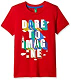 United Colors of Benetton Boys' T-Shirt (17A3C96CZ0A2I21LEL_Red)