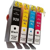 Prestige Cartridge HP 920XL 4 Cartucce d'Inchiostro Compatibile per Stampanti