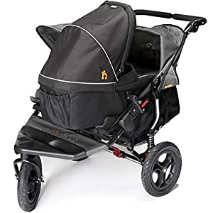 Out n About Nipper 360 Double Pushchair v4 with 1 Raven Black Carrycot (Steel Grey)   8