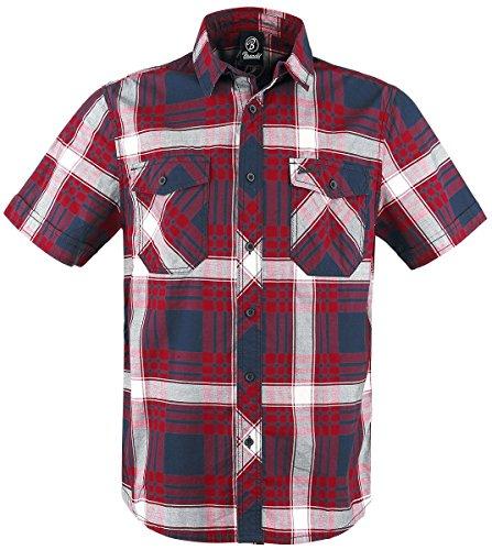 Brandit Roadstar Hemd Rot/Weiß/Blau L