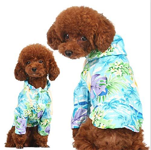 CT COUTUDI Hawaiian Hunde-Shirt Aloha Hund Hemd Haustier Sommer Cool Sommer Blume Ananas Hemd für kleine bis mittelgroße Welpen Hund Katze, S, Hawaiian Style Flower Shirt