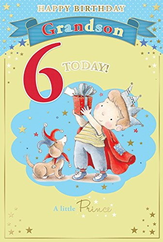 nipote-6th-birthday-card-6-today-little-boy-in-crown-azienda-regalo-229-x-152-cm