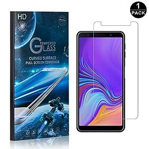 SONWO Panzerglasfolie für Galaxy A7 2018, Schutzfolie, Panzerglas, Displayschutzfolie, HD Ultra-Klar Schirm Displayschutzfolie, Anti-Kratzen, Anti-Öl, Anti-Bläschen, 1 Stück